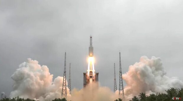 احتمال سقوط بدنه موشک چینی و خسارت به زمین اندک است